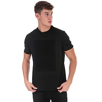 Men's Armani Diagonal Eagle T-Shirt en noir