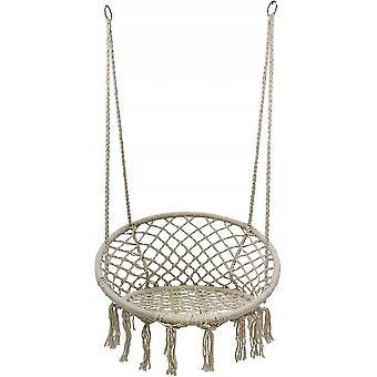 Hängande stol beige - trädgårdsstol - 60 cm diameter - upp till 150 kg