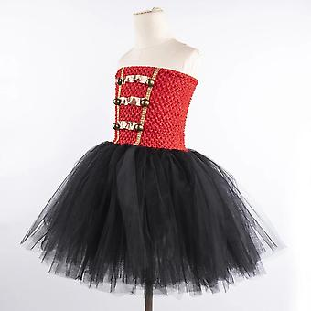 Halloween Red Black Nutcracker Costume Dress