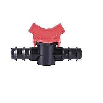 Pe Water Pipe Joint Miniature Ball Valve Irrigation Goutte à goutte Hose Nut Lock Jointn