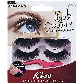 Kiss Haute Couture Natural Lightweight Lash Multipack - Lust with Applicator