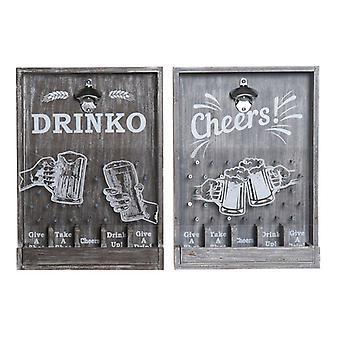Abridor de botellas Dekodonia Cheers! Madera MDF (2 uds) (33 x 7 x 46 cm)