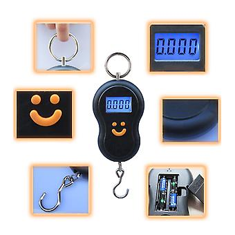 Pocket Portable 50kg Lcd Digital Scale Electronic Hand Held Hook Belt Luggage