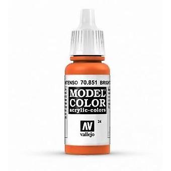 Vallejo Model Color 17ml Acrylic Paint - 851 Deep Orange