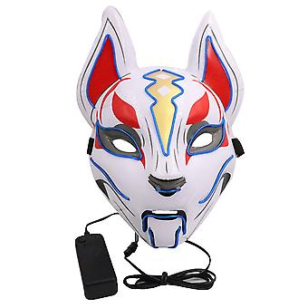 Lichtgevend masker Fairy Fox Full Face Fox Cosplay Props Halloween Party