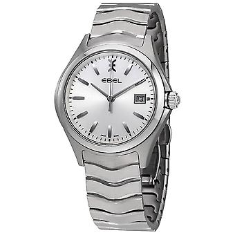 Ebel Wave Silver Dial Stainless Steel Men's Watch 1216200
