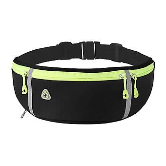 Water-repellent running waist bag with water bottle holder ultralight adjustable belt