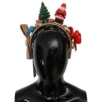 Dolce & Gabbana Gold Santa Claus Tiara CHRISTMAS Diadem Headband