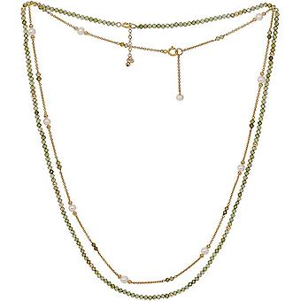Pearls of the Orient Clara Peridot Double Chain Necklace - Green