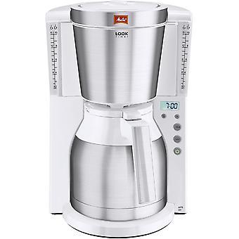 Look Therm 1011-15, Filterkaffeemaschine mit Thermkanne und Timer-Funktion, AromaSelector, Wei