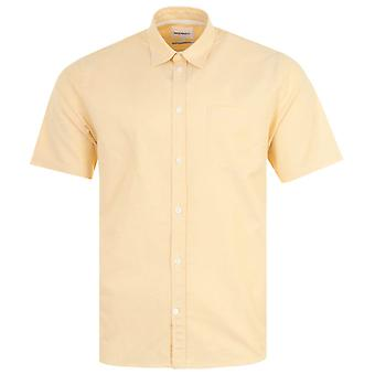 Norse Projects Osvald Short Sleeve Oxford Shirt - Light Yellow