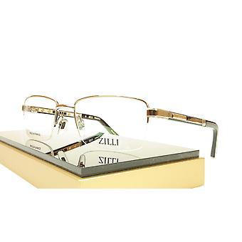 ZILLI glasögon Ram Acetate Läder Titanium Frankrike Handgjord ZI 60014 C02