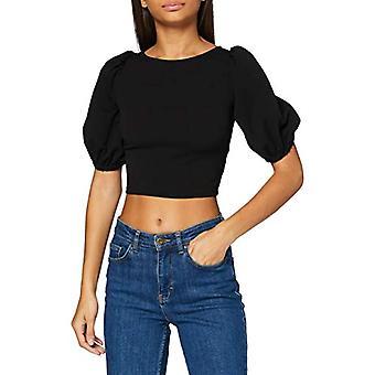 Miss Selfridge Black Lattice Back Top Women's Shirt, Black, 6