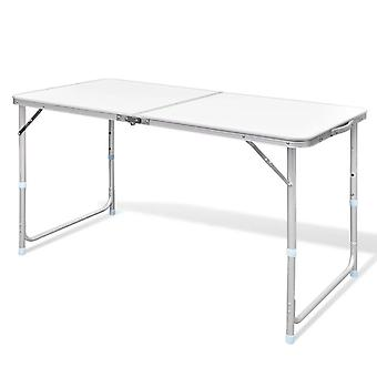 Folding Camping Table Portable 4Ft, Outdoor Adjustable Aluminium Table