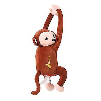 Brown pippi monkey paper napkin case cute cartoon animals car paper boxes x2761