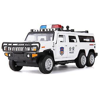 Lasten auto lelu 1:32 Hummer Poliisi Auto malli Diecast Valkoinen