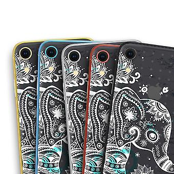 Aztec Elephant Blue Accented Modern Illustration - Skin-kit For The