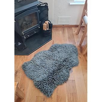Eco Tanned harmaa kihara lampaantalja matto