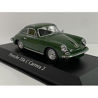 Porsche 356 C Carrera 2 1963 Dark Green 1:43 Maxichamps 940062360