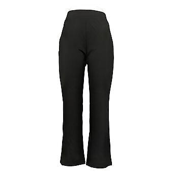 IMAN Global Chic Women's Petite Jeans Slim Boot Cut Pant Black 722609001