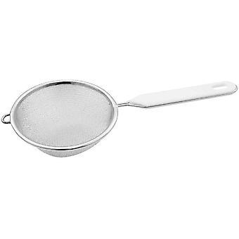 Wokex Sieb Ø 10 cm, Küchensieb aus Edelstahl, feinmaschiger Seiher mit Griffeinlage aus Kunststoff