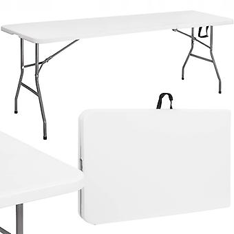 Fällbart trädgårdsbord - vitt - 240 x 75 cm - Cateringbord