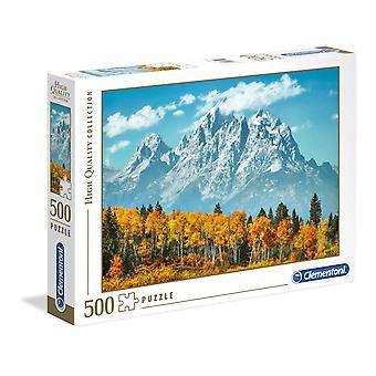 Clementoni Grand Teton à l'automne Puzzle de haute qualité (500 pièces)