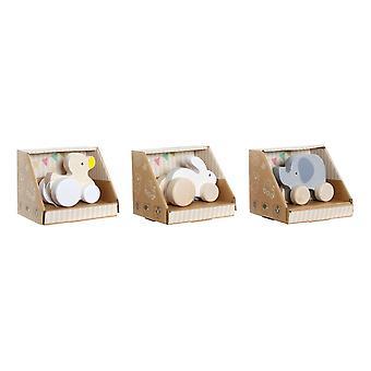 木製ゲーム DKD ホーム装飾動物 (3 個)