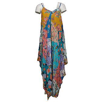 Tolani Collection Dress Printed Handkerchief Hem Blue A376838