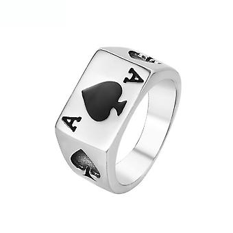 Poker Ring Black Peach A Titanium Steel Finger Ring For Daily Use