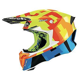 Airoh Twist 2.0 Frame Off Road Motocross ATV Helmet Yellow Gloss