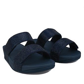 Sandales à glissière en cristal Flop Mina pour femmes en bleu