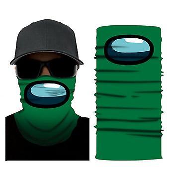 (Grün) Unter uns Spiel Multi Use Gesichtsmaske Sturmhaube Schal Snood Hals Wärmer Bandana