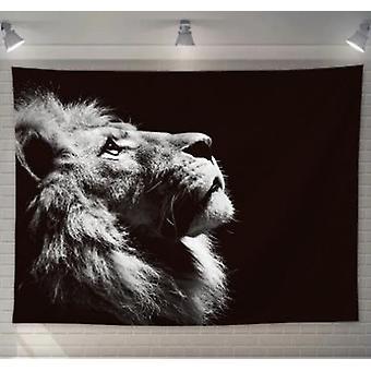 Animal Lion Tapestry Sisustus Hippie Macrame Seinä roikkuu seinä seinävaatteet kodin sisustus