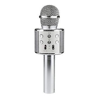 KTV-אלחוטי קריוקי מיקרופון-כסף