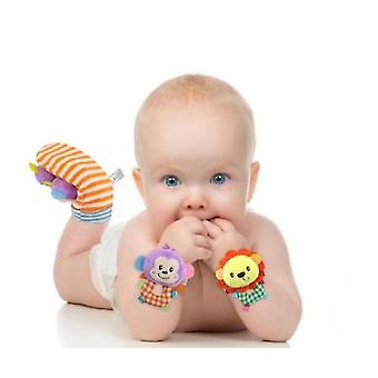 Soft Baby Socks Toy Rattle And Foot Guard (funny Butterflies And Ladybugs)(S3)