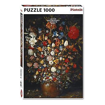 Piatnik Flowers in a Wooden Vessel, Bruegel Jigsaw Puzzle (1000 Pieces)