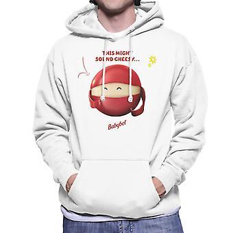 Baby Bel Detta kan låta ostiga mäns hooded sweatshirt