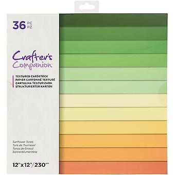 """Crafter's Companion Single-Side Paper Pad 12""""X12» 36/Pkg - Tons de tournesol"""