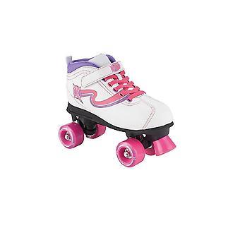 Xootz Disco Quad Skate Rollschuhe mit LED Laufrädern UK Größe 4