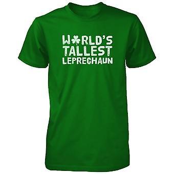 Världens högsta Leprechaun roliga Saint Patricks Day Unisex grön T-Shirt