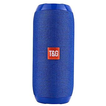blue Waterproof bluetooth speaker portable rechargeable subwoofer speaker with built-in microphone