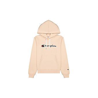 Champion Wmns Organic Cotton Blend Script Logo Hoodie 114461PS075SFP universel toute l'année femmes sweat-shirts pour femmes