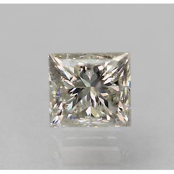 معتمد 0.50 قيراط G لون SI2 الأميرة الماس فضفاضة الطبيعية 4.34x3.97mm 2VG