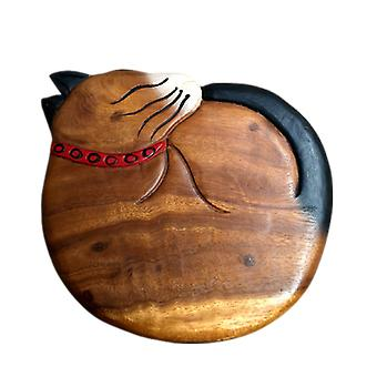 Kids Wooden Stool Cat