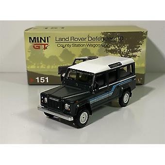 Land Rover Defender 110 1985 County Wagon Grey LHD 1:64 MiniGT MGT00151L