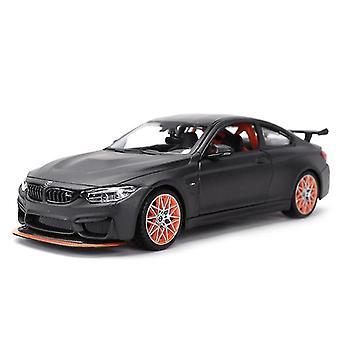 Leluautot 1:24 bmw m4 gts urheiluauto staattinen die cast ajoneuvot keräilymalli auto lelut musta