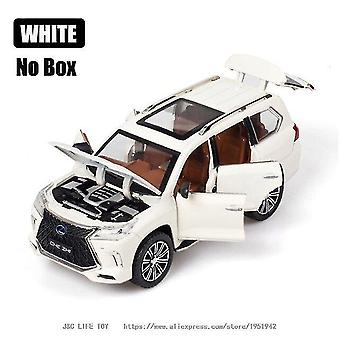 Toy cars 1:24 lx570 suv metal car toy alloy car white