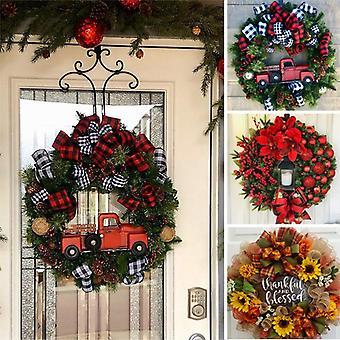 Couronne de Noël Couronne de Noël artificielle pour la verdure des fêtes de la porte d'entrée