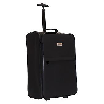 Karabar Trento Foldable Cabin Suitcase, Black